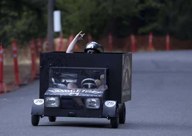 Bridgetown Moving's Truck at Portland Soapbox Derby