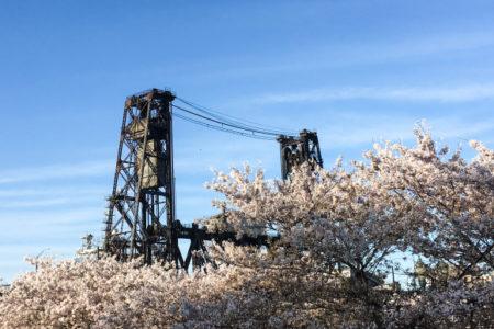 Portland, Steele Bridge, Steele Bridge Portland, Spring in Portland